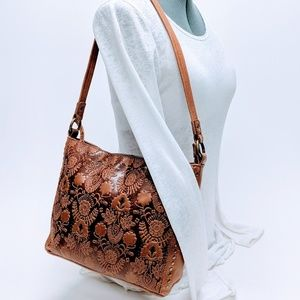 The Sak Floral Embossed Leather Bag